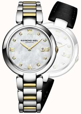 Raymond Weil Womans brillo dos tono de acero inoxidable diamante punto 1600-STP-00995