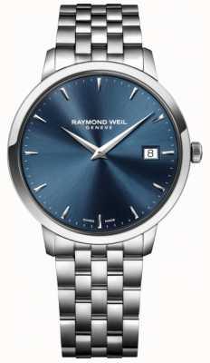 Raymond Weil de acero inoxidable para hombre azul movimiento de cuarzo 5488-ST-50001