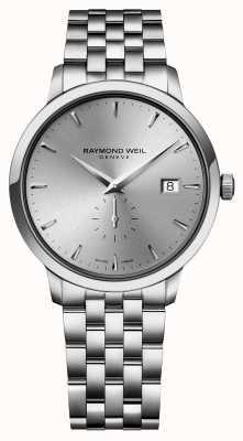 Raymond Weil Para hombre de los cuartos de galón de línea Índice siver de acero inoxidable delgado 5484-ST-65001