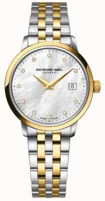 Raymond Weil Womens toccata dos tonos de diamante de oro 5988-STP-97081