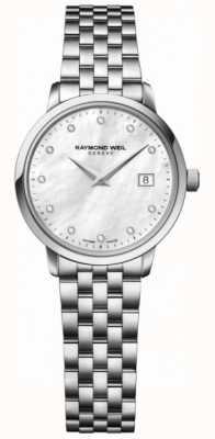Raymond Weil Womens toccata cuarzo acero inoxidable plata diamante punto 5988-ST-97081