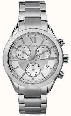 Timex Womans miami cronógrafo de plata de tono TW2P93600
