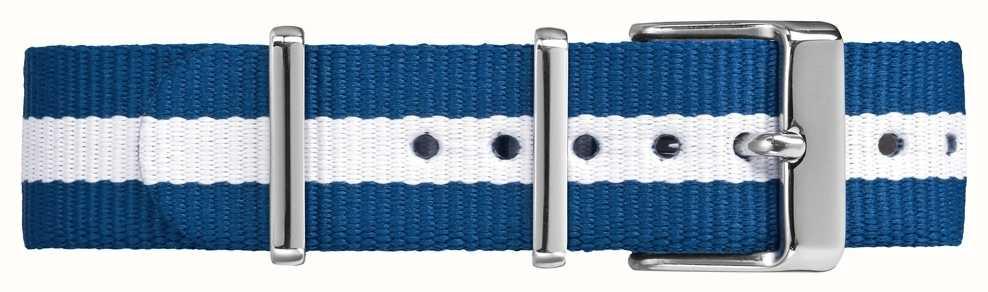 Timex Weekender fairfield 18mm blanco azul correa TW7C07300