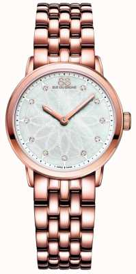 88 Rue du Rhone Doble 8 mujeres de origen en oro rosa diamante 87WA142903