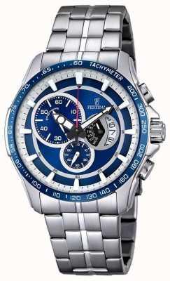 Festina Relojes de pulsera de acero inoxidable esfera azul F6850/2