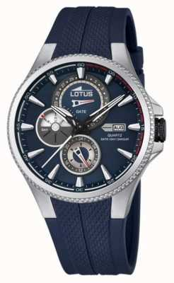 Lotus reloj multifuncional para hombre, correa de caucho azul L18318/2