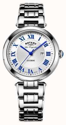 Rotary damas de alfalfa rotativos vestido suizo reloj 34mm LB90186/01/L