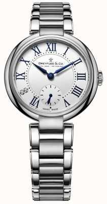 Dreyfuss 1974 grandes damas de acero inoxidable reloj DLB00157/01/L