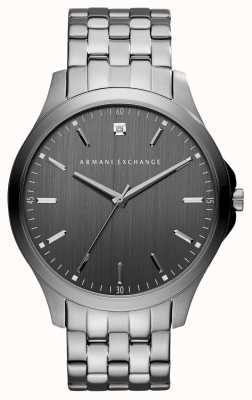 Armani Exchange Mens GunMetal reloj de acero inoxidable de color gris AX2169
