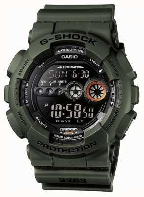 Casio Edición limitada para hombre g-shock green GD-100MS-3ER