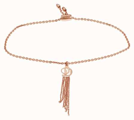 Project D de las mujeres aumentó de tono plata esterlina logotipo de pulsera PDLJ/2/B/2
