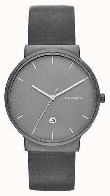 Skagen ancher de titanio y reloj de cuero SKW6320