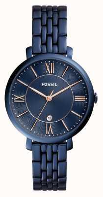 Fossil Señoras azul reloj de acero inoxidable de Jacqueline ES4094