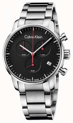 Calvin Klein reloj crono ciudad pulido Hombres K2G27141