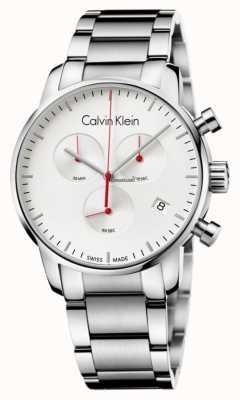 Calvin Klein Reloj para hombre de la ciudad de cronógrafo de acero inoxidable K2G271Z6