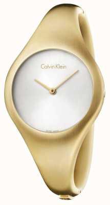 Calvin Klein Señoras del reloj PVD de oro a pequeña desnuda K7G1S516