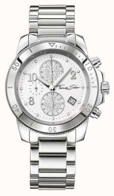 Thomas Sabo Damas glam crono de plata elegante WA0190-201-202-40