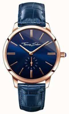Thomas Sabo Las señoras de cuero azul glam espíritu WA0250-270-209-33