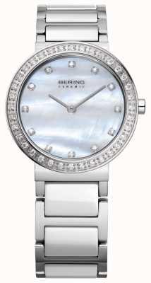 Bering Las mujeres de plata de acero inoxidable 10729-704