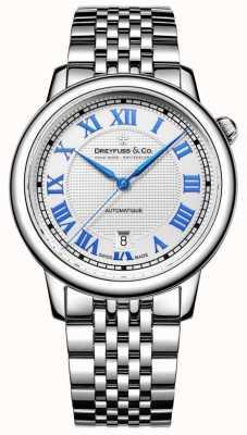 Dreyfuss acero inoxidable reloj de los hombres 1925 DGB00148/01