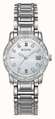 Bulova Las señoras del diamante de acero inoxidable 96W105