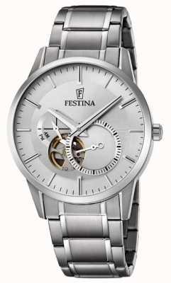 Festina Para hombre reloj de plata de acero inoxidable automática F6845/1