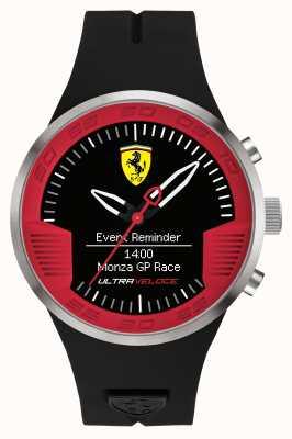 Scuderia Ferrari Para hombre correa de caucho negro rojo negro 0830373