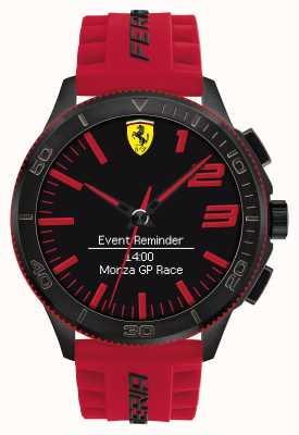 Scuderia Ferrari reloj de alarma para hombre negro rojo 0830376