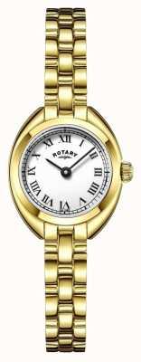 Rotary oro correa de pulsera de la mujer plateado LB05015/11
