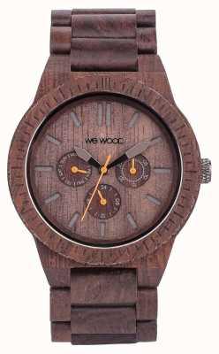 WeWood Mens kappa de chocolate correa marrón de madera 70315500