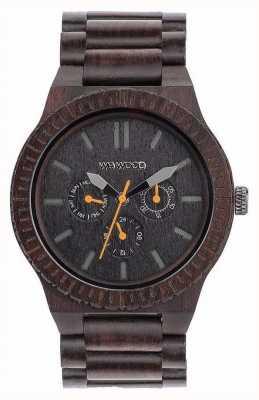 WeWood Mens kappa negro naranja correa de madera negro 70315300