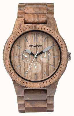 WeWood Mens tuerca kappa correa marrón de madera 70315700