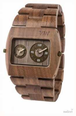 WeWood Mens júpiter rs tuerca de la correa marrón de madera 70331700