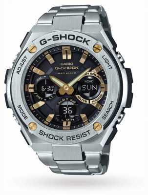 Casio g-acero Relojes de alarma de acero inoxidable GST-W110D-1A9ER