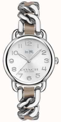 Coach Para mujer de acero inoxidable reloj de plata de la pulsera delancey 14502254