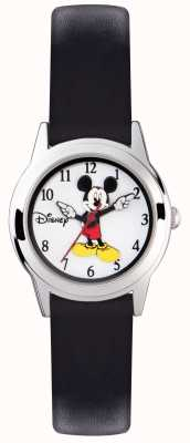 Disney Adult Estuche Mickey mouse plata correa negra MK1314