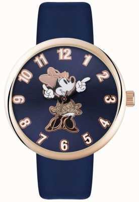 Disney Adult Minnie ratón rosa caja de oro azul correa MN1471