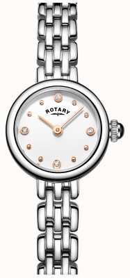 Rotary La mujer elegante reloj de acero inoxidable cóctel LB05052/02