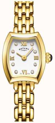 Rotary Oro de la mujer del reloj plateado cóctel LB05055/01