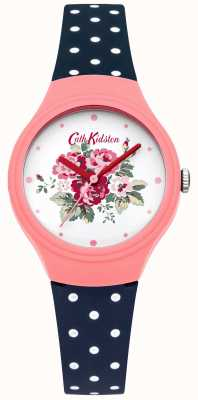 Cath Kidston Damas de línea flor azul de lunares reloj de puntos CKL024PU