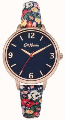 Cath Kidston Cath kidston mews ditsy reloj de correa de tela azul marino CKL002URG