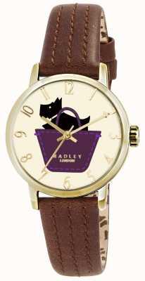 Radley reloj frontera con correa de piel genuina color canela RY2290