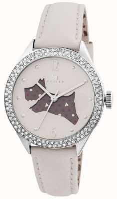 Radley El gran reloj de la correa de cuero genuino al aire libre crema RY2205
