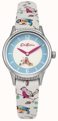 Cath Kidston Señoras pequeños pájaros que giran leatherstrap disco CKL011US