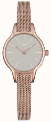Radley dial de granito malla Millbank chapado en oro rosa pulsera de malla RY4250