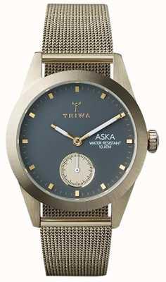 Triwa Womans cenizas Aska malla de oro AKST103-MS121717