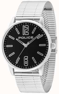 Police Mens Esquire tocho de acero inoxidable negro 14765JS/02M