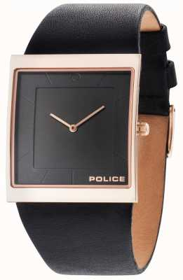 Police Hombres skyline negro correa de cuero negro dial 14694MSR/02