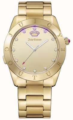 Juicy Couture Womans conectan cuarzo dorado 1901500