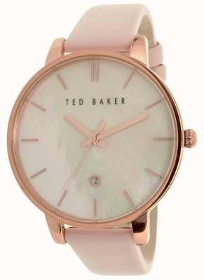 Ted Baker Correa de cuero rosa de la mujer perla dial TE10026423